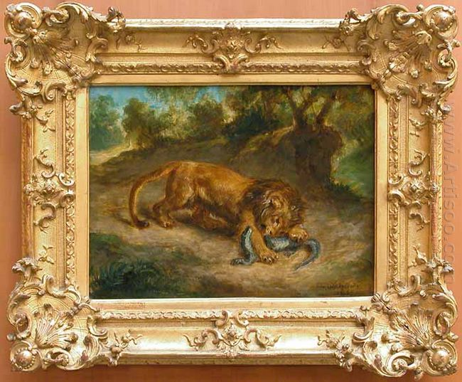Lion en Alligator 1855