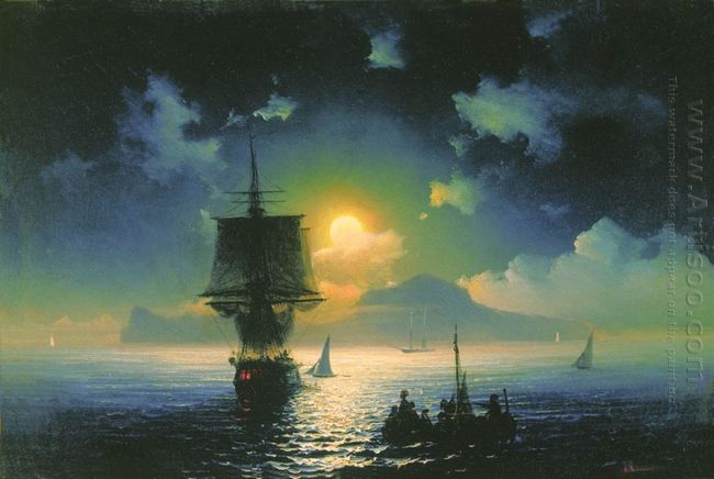 Lunar Night On Capri 1841