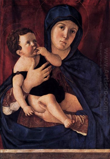 Oil Madonna And Child 2