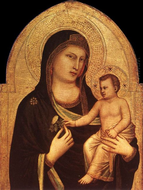 Oil Madonna And Child 3