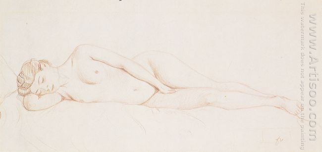 Oil Reclining Female Nude