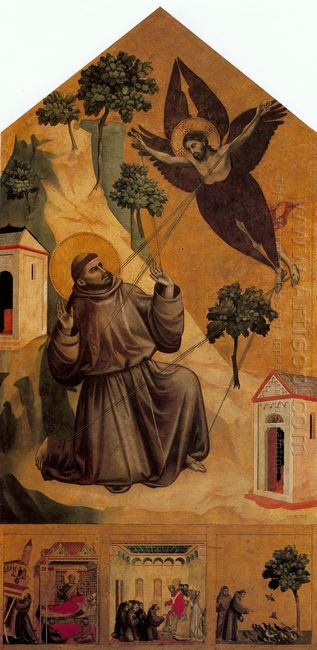Oil St Francis Receiving The Stigmata