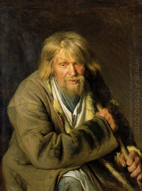 Old Man With A Crutch 1872