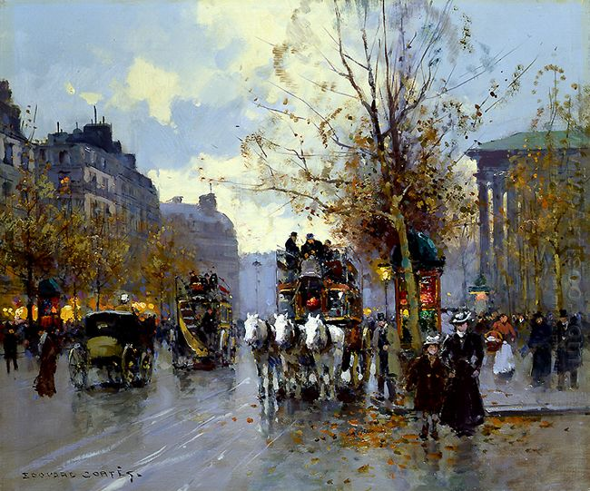 Omnibus On The Place De La Madeleine 1