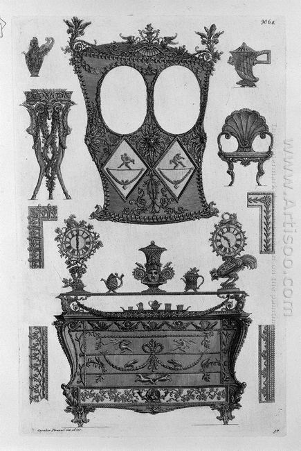 One Side Of The Sedan A Dresser And Various Other Objects And De