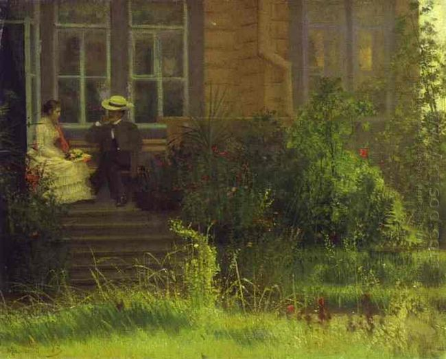 On The Balkony Siverskaya 1883