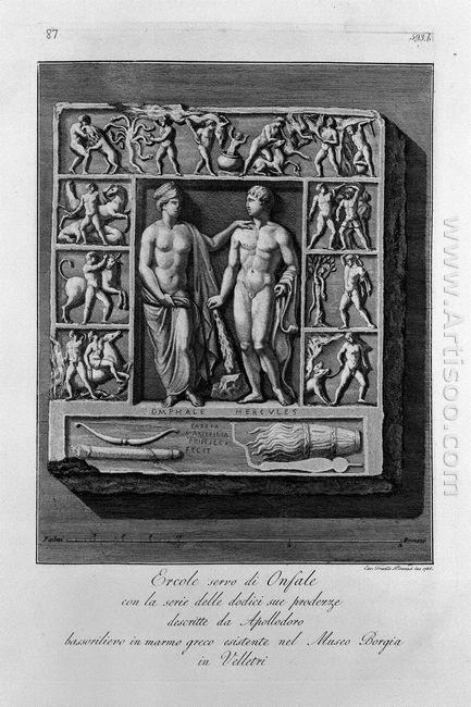 Other Greek Marble Bas Relief With Hercules And Omphale Exists I