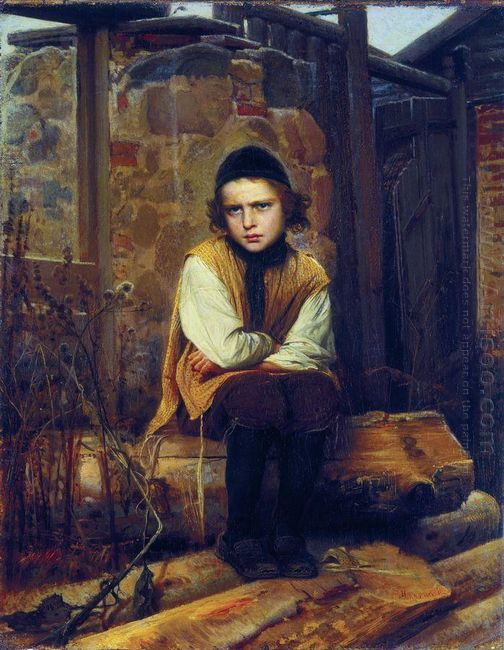 Outraged Jewish Boy 1874