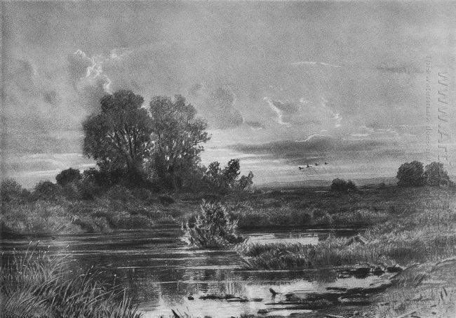 Overgrown Pond 1884