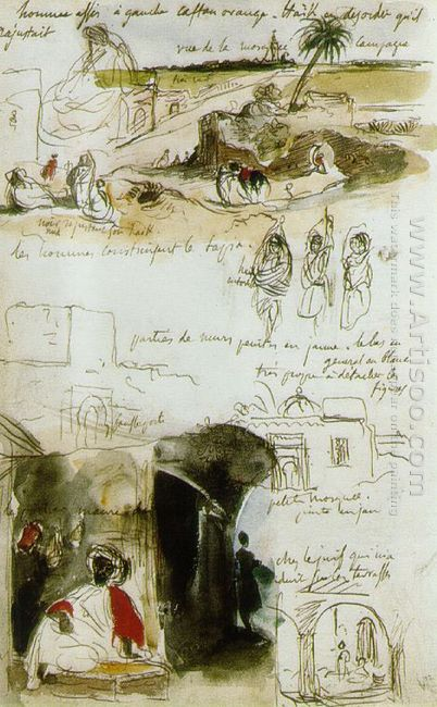 Page From The Moroccan Notebook 1832