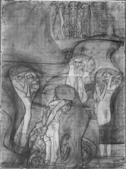 Painted Composition Draft Jusisprudenz 1898