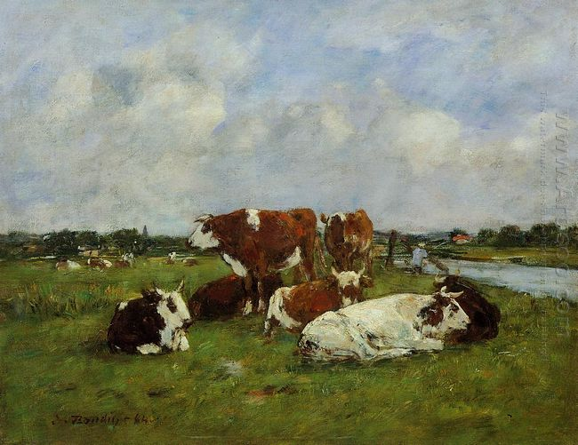 Pasturage On The Banks Of The Touques 1884