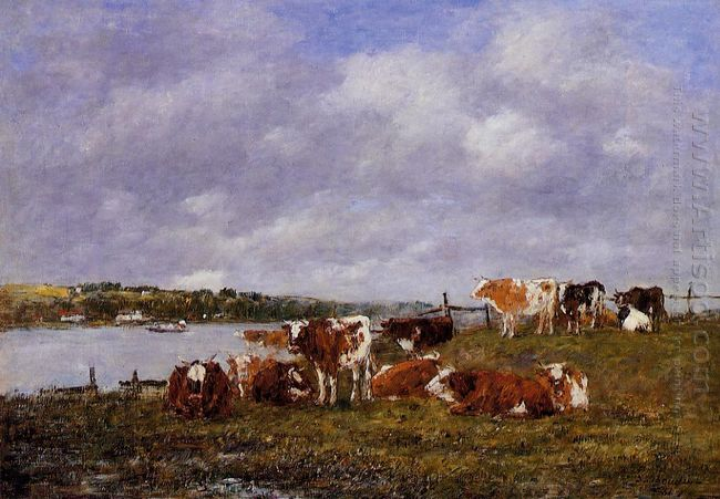 Pasturage The Valley Of The Touques 1881