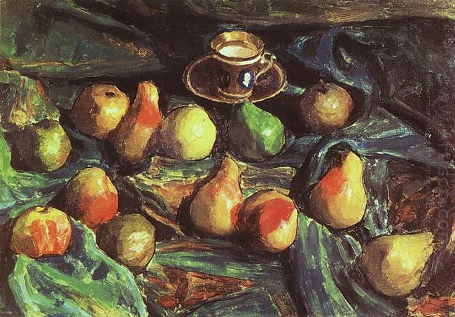 Pears On A Green Cloth