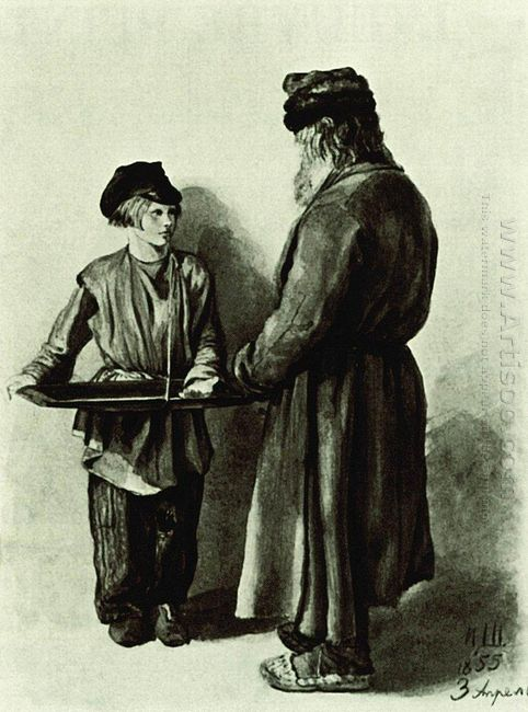 Peasant And Peddler 1855