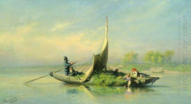 Peasant Family In A Boat