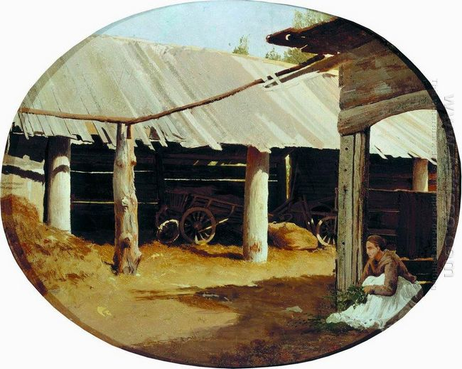 Peasant S Courtyard 1869