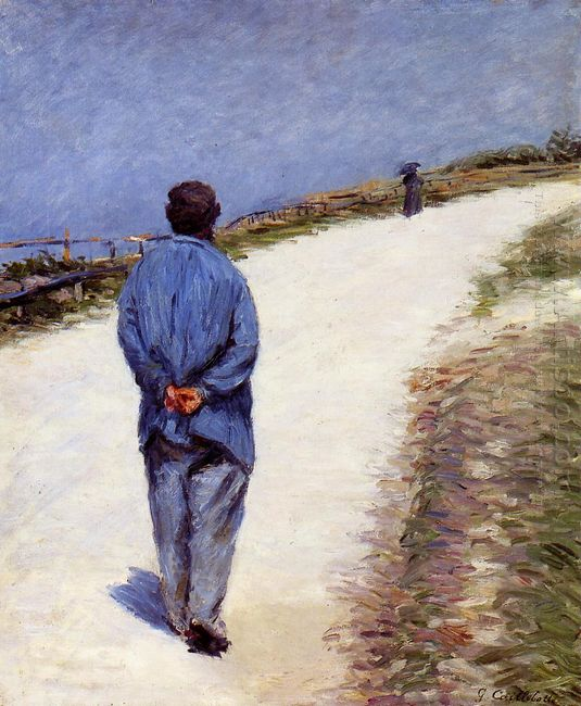Pere Magloire On The Road To Saint Clair Etretat 1884