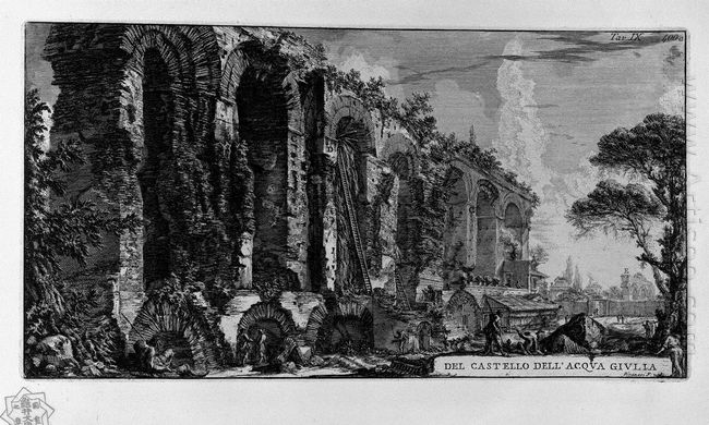 Perspective Of The Ruins Of The Aqueduct