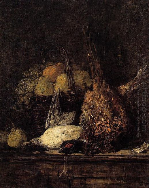 Pheasant Duck And Fruit 1879