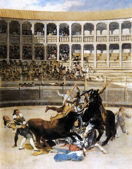 Picador Caught By The Bull 1793