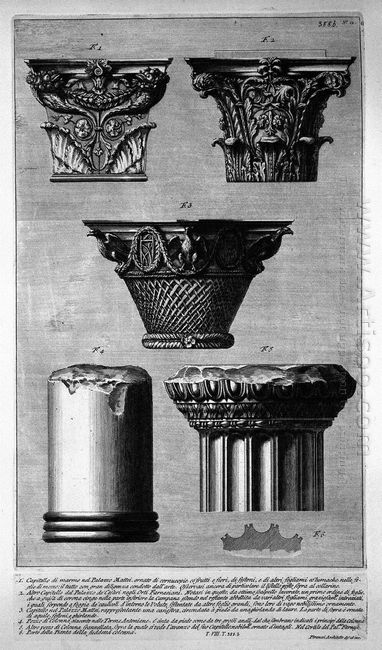 Pieces Of Columns And Capitals
