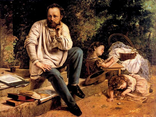 Pierre Joseph Proudhon And His Children In 1853 1865