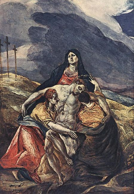 Pietà The Lamentation Of Christ 1575