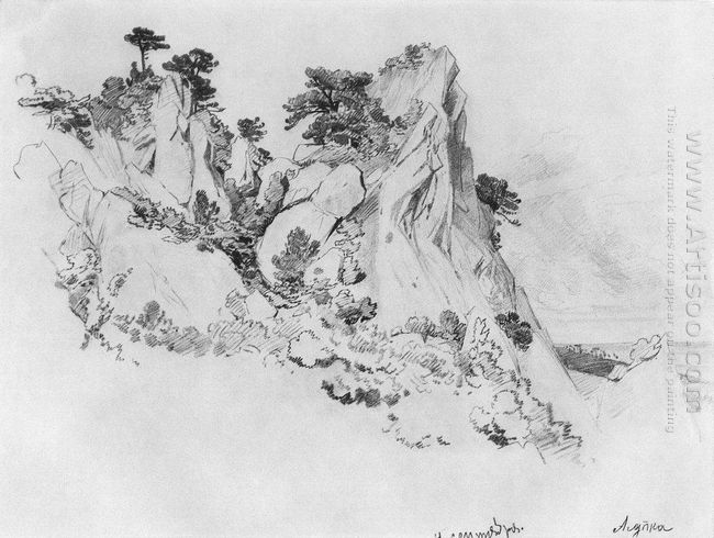 Pines On The Cliffs Alupka 1879