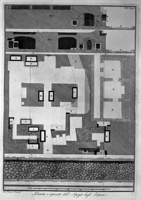 Plan And Sections Of The Hypogeum Of The Scipios