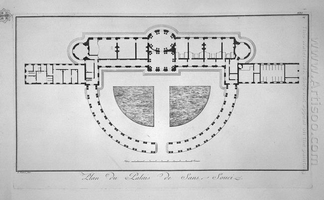 Plan Of The Palace Of Sans Souci