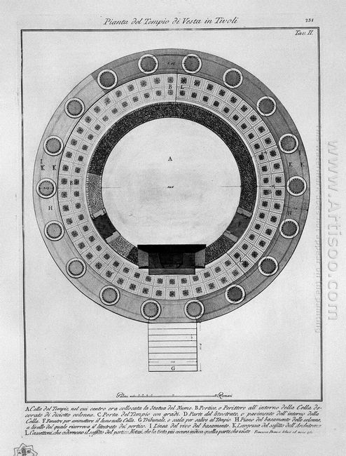 Plan Of The Temple Of Vesta In Tivoli