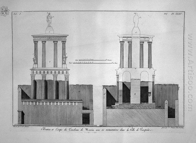 Plan Of The Tomb Of Mamia And Outbuildings In Pompeii