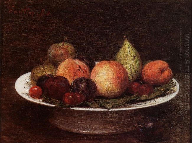 Plate Of Fruit 1880