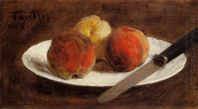Plate Of Peaches 1862