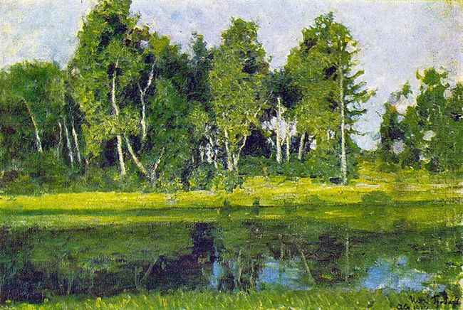 Pond In Abramtsevo