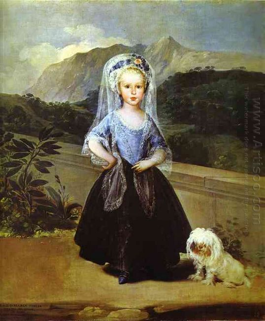 Portait Of Maria Teresa De Borbón Y Vallabriga