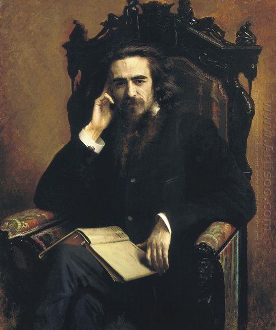 Portarait Of Philosopher Vladimir Solovyov 1885