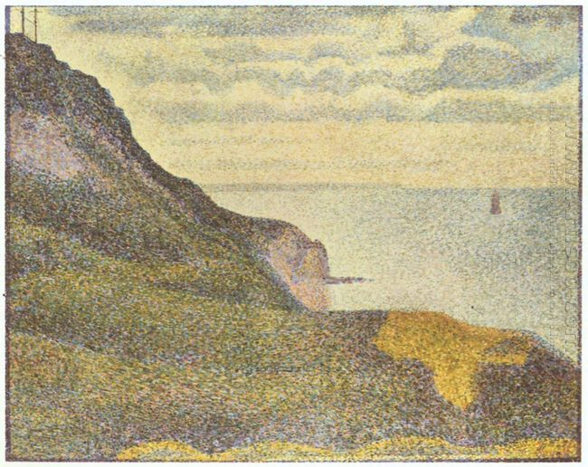 Port En Bessin The Semaphore And Cliffs 1888