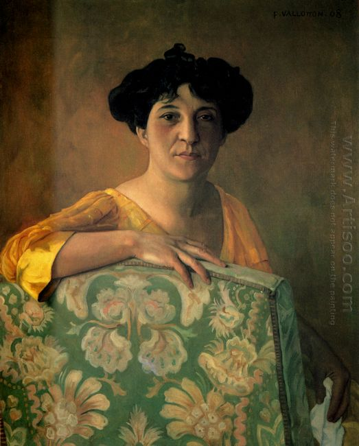 Portrait De Gabrielle Vallotton 1908