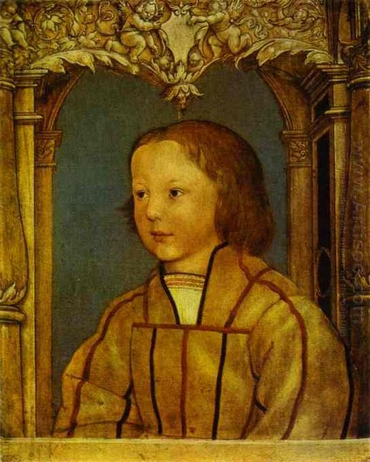 Portrait Of A Boy With Blond Hair