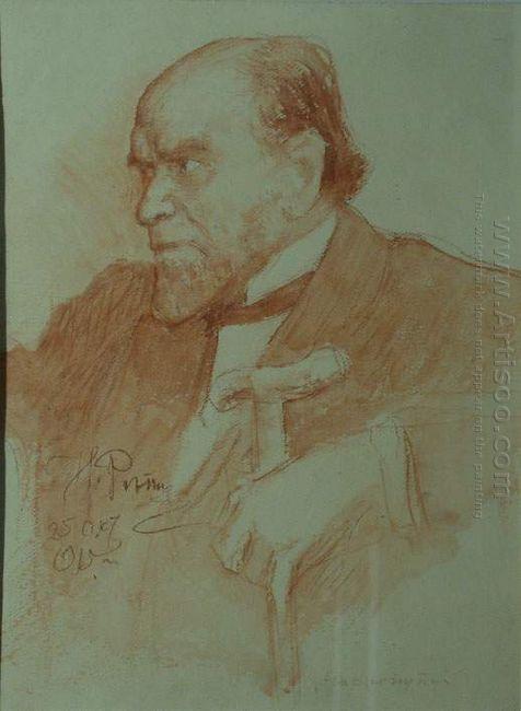 Portrait Of Academician A F Koni 1915