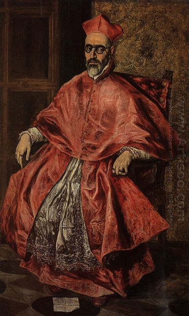 Portrait Of A Cardinal Probably Cardinal Don Fernando Niño De Gu