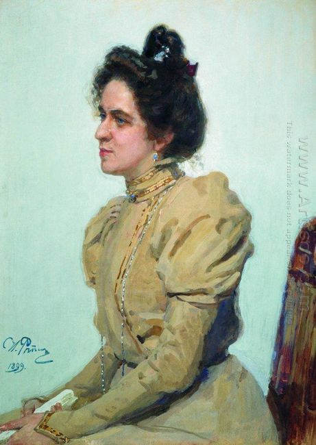 Portrait Of Actress Lyubov Sazonova Shuvalova 1899