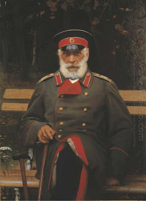 Portrait Of Admiral Login Loginovich Heyden 1882