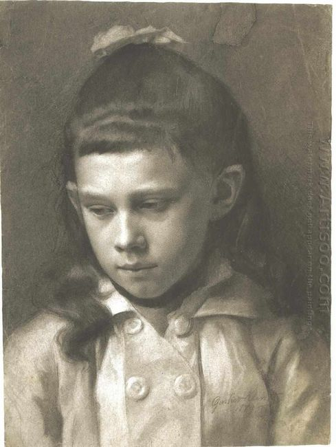 Portrait Of A Girl Head Slightly Turned Left