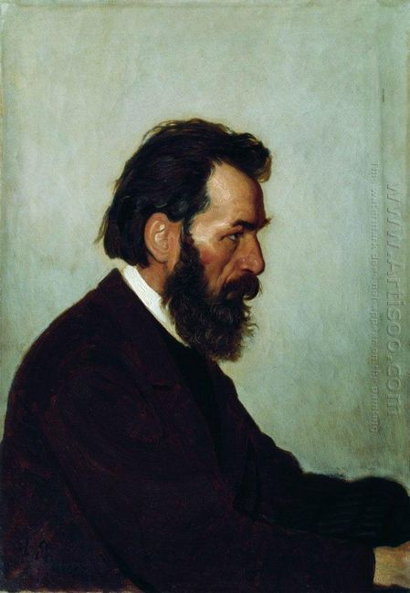 Portrait Of A I Shevtsov 1869