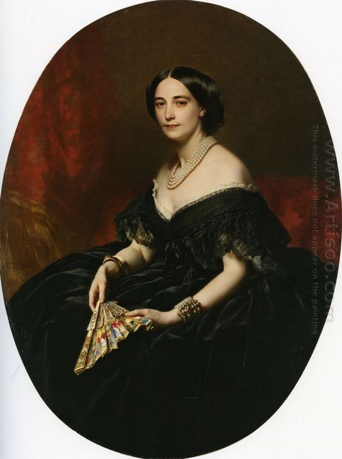 Portrait Of A Lady With A Fan