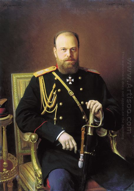 Portrait Of Alexander Iii 1886