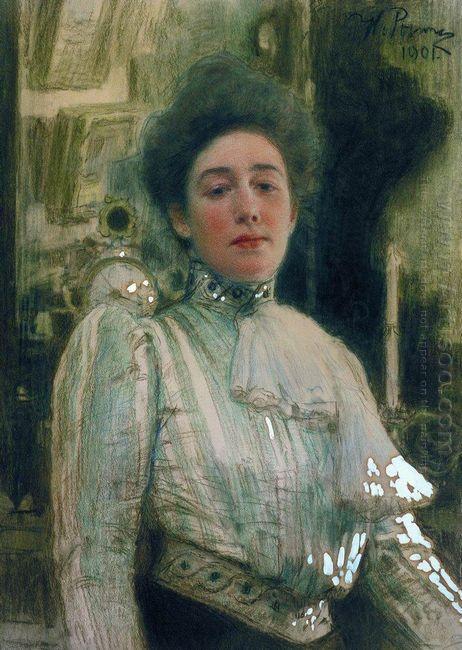 Portrait Of Alexandra Pavlovna Botkina 1901